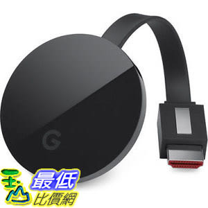 [106美國直購] 一年保 Google Chromecast Ultra 3代 4K UHD HDR 電視棒 串流播放