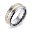 【5折超值價】 情人禮物最新款時尚精美特色線條造型男款鎢鋼戒指