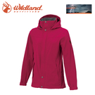 【Wildland 荒野 女 單件式防水透氣外套《桃紅》】W3911/Champ-Tex/保暖夾克/防風防雨/爬山健行