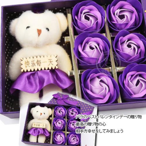 【培菓平價寵物網】 小熊玫瑰生日會情人節6朵玫瑰禮盒