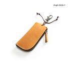 真皮鑰匙包-瘋馬皮頭層牛皮手作汽車遙控鑰匙零錢包 AngelNaNa (SMA0289)