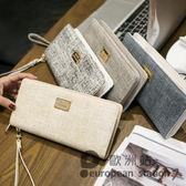 手拿包/錢包女長款拉鍊手拿錢包皮夾「歐洲站」