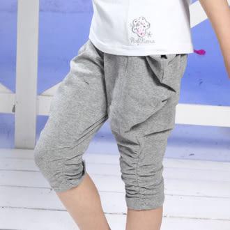 PINKNANA童裝 女童純棉飛鼠七分褲寬褲 21191(110公分)