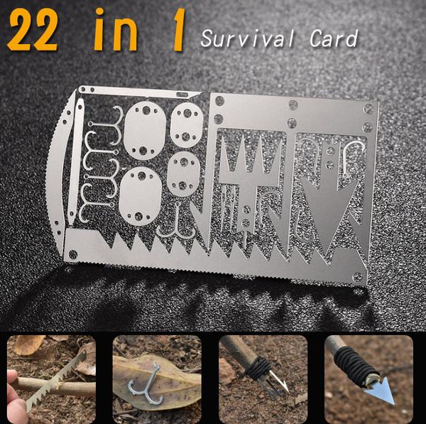 22合一 多功能魚鉤卡 // 野外求生工具漁具捕魚裝備 魚鉤工具卡 露營 登山