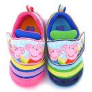 童鞋城堡-粉紅豬小妹 中童 毛毛蟲輕量運動鞋PG8536-藍/桃 (共二色)