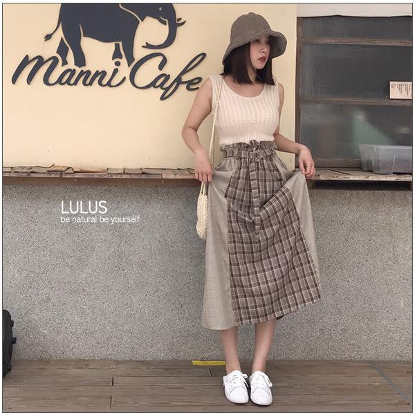 LULUS-E細麻花縮腰無袖針織上衣-3色  【01190156】