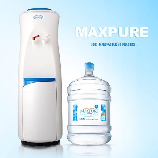 立式溫熱飲水機(白)+純水(A:17.25公升20桶 / B:12.25公升30桶,A或B擇一)