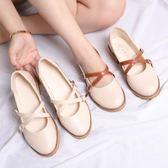 娃娃鞋日繫娃娃鞋瑪麗珍鞋平底圓頭小皮鞋森女復古淺口女鞋春秋單鞋 【時尚新品】
