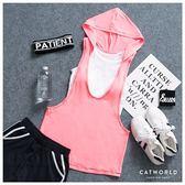 Catworld 彩色車線連帽運動罩衫【11601700】‧S/M/L/XL