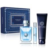 Versace 凡賽斯 經典男性淡香水靛藍限量香氛禮盒【ZZshopping購物網】