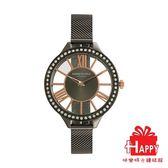 Kenneth Cole 時尚晶鑽鏤空設計都會腕錶 KC50184006 黑X玫瑰金