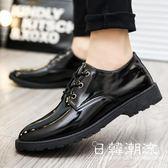 2019春季加絨新款男士休閑皮鞋男韓版潮流黑色鞋正裝商務皮鞋英倫