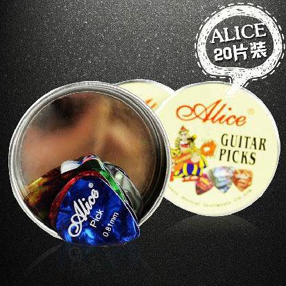 小叮噹的店- PICK盒 彈片盒 (20片裝) Alice A011B 大圓形金屬盒