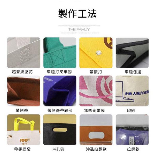 不織布袋 客製化 平口袋(中號) 無底無側 環保袋 手提袋 購物袋 禮贈品 飲料袋 提袋【塔克】