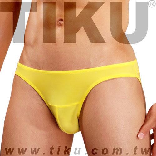 TIKU 梯酷 ~ 陽光黃 超彈貼身三角男內褲 (Y2P1692)