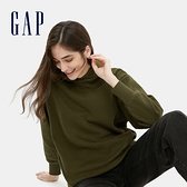 Gap女裝 碳素軟磨系列 休閒刷毛連帽休閒上衣 655692-橄欖綠