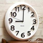 時尚創意靜音掛鐘現代簡約時鐘個性數字鐘錶藝術客廳石英鐘 HM 范思蓮恩