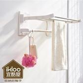 ikloo不鏽鋼吸盤衛浴置物架 毛巾架 衣物掛架 浴室收納架 置物架 掛勾【BG0817】Loxin