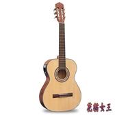 36寸古典吉他 單板圓角初學者兒童男女學生旅行吉他 QX16013 【花貓女王】