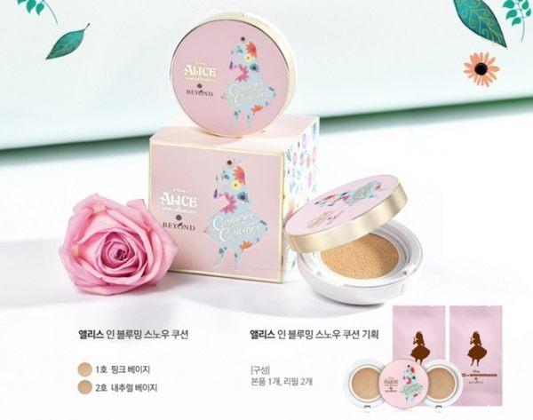 [霜兔小舖]韓國BEYOND x ALICE 愛麗絲春日幻境雪顏氣墊粉餅 (1盒3芯,15g*3)