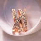 戒指 優雅氣質多層水鑚百搭歐美韓版女戒韓國時尚誇張女士戒指食指