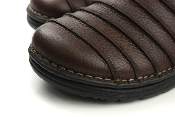 HUMAN PEACE 涼鞋 拖鞋 皮質 舒適 咖啡色 男鞋 H056 no002