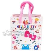 〔小禮堂〕Hello Kitty 方形手提紙袋《XS.粉白.45週年》包裝袋.送禮紙袋.手提袋 4714581-55254