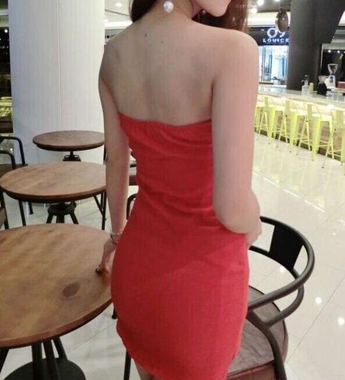抹胸洋裝2020春夏夜店時尚性感女裝緊身裹胸包臀打底超短裙洋裝
