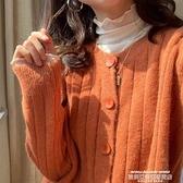 熱賣針織開衫 學院風紐扣毛衣開衫短款上衣女韓版寬鬆豎條紋顯瘦針織衫外套披肩 夏季新品