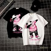 hiphop寬鬆bf原宿港風寬鬆ulzzang短袖半袖T恤潮男ins超火的上衣「時尚彩虹屋」