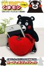 車之嚴選 cars_go 汽車用品【KM-07】日本進口 熊本熊 可愛人偶 智慧型手機架 收納置物盒(可吸玻璃)