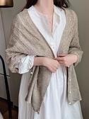春秋針織小披肩女網紅時尚洋氣辦公室百變空調房外搭高端圍巾冬季 范思蓮恩