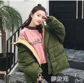2018新款冬季棉襖韓版學生加厚面包服羽絨棉衣女短款寬鬆外套夢依港