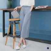 OrangeBear《BA3024》圓環腰帶設計牛仔質感寬版九分褲.2色--適 XL~5L