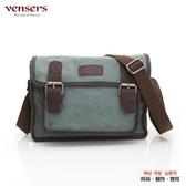 【南紡購物中心】【vensers】韓潮頂級棉麻斜肩背包(C2016102湖綠)