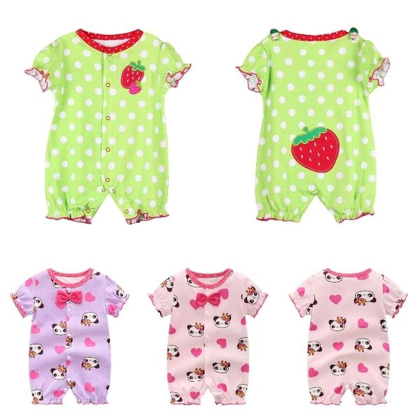 嬰兒短袖連身衣 春夏兔裝 寶寶童裝 棉質嬰兒服 LW2245 好娃娃