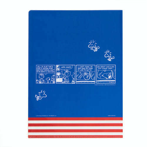 《KAMIO》SNOOPY環遊世界系列五層分類文件夾(美國)_KM85137