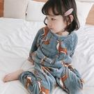 兒童睡衣珊瑚絨女童加厚家居服保暖童裝冬款女寶寶秋冬套裝交換禮物