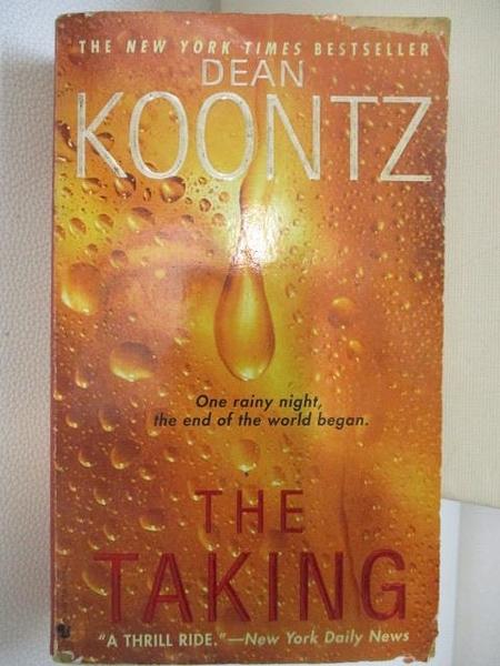 【書寶二手書T1/原文小說_HBK】The Taking_Dean Koontz