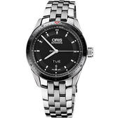 ORIS 豪利時 Artix GT Day-Date 單向轉圈機械手錶-黑/鋼帶 0173576624434-0782185