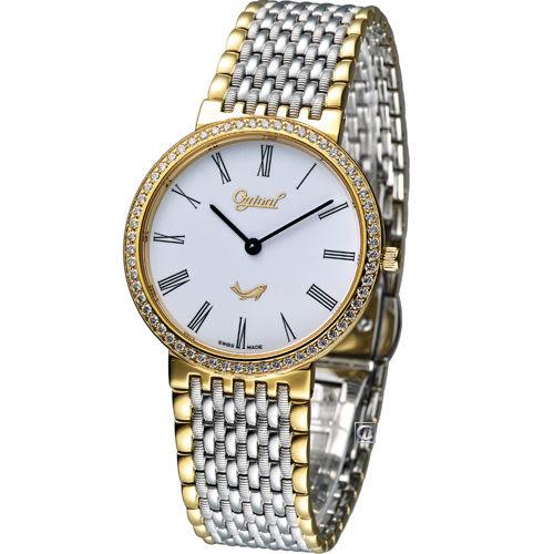 Ogival 愛其華薄型尊爵腕錶 385021DM