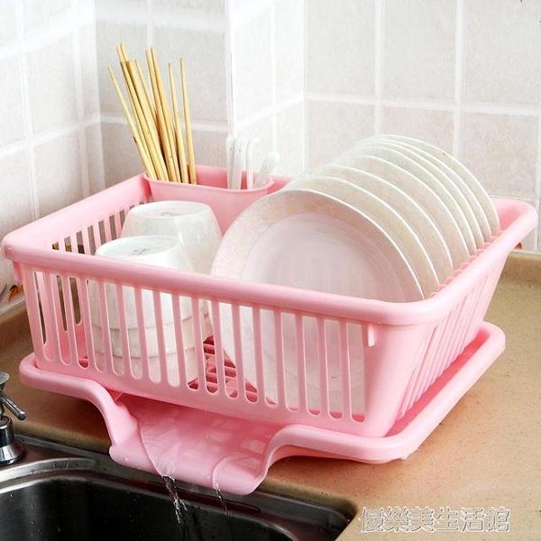 廚房放碗架 塑料用品瀝水滴水碗碟架碗筷收納置物架收納盒收納籃 YDL