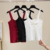 大碼吊帶背心外穿內搭打底冰絲針織上衣 1075 R11 XL-4XL 胖妞衣櫥