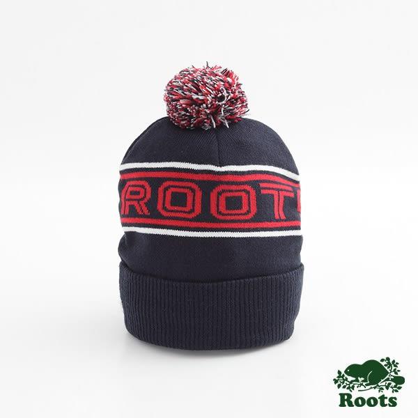 Roots-男配件- 金布魯克毛球針織帽 - 藍色