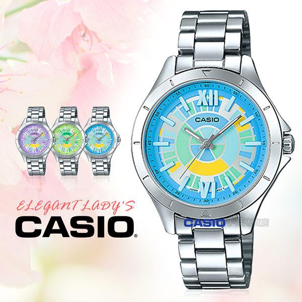 CASIO 卡西歐 手錶專賣店 LTP-E129D-2A 女錶 不鏽鋼錶帶 防水 礦物玻璃
