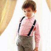 復古兒童純色吊帶夾 吊帶配件 紳士風