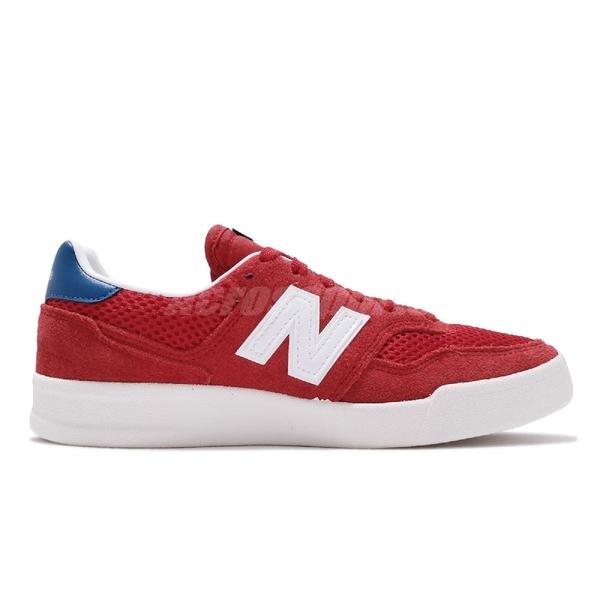 New Balance 休閒鞋 300 NB 紅 白 麂皮鞋面 男鞋 女鞋 運動鞋 【ACS】 CRT300A2D