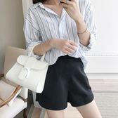 孕婦短褲女夏裝2018新款時尚外穿寬鬆休閑黑白托腹運動潮媽 QG602『愛尚生活館』