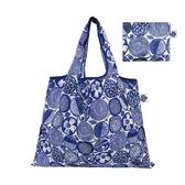 【日本PrairieDog】環保隨身設計包 - 藍色大麗花