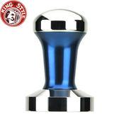 金時代書香咖啡【Tiamo】1220填壓器 波紋(RIPPLE) 58mm (藍) 附填壓止滑墊